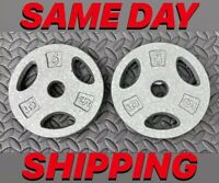 """Cap Cast Iron Barbell 5 lbs Set of 2 1"""" Standard Olympic Weightlifting Plates"""