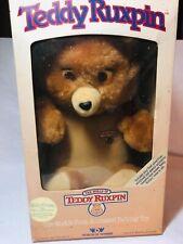 Vintage 1985 Teddy Ruxpin Worlds of Wonder Talking Bear In Box ! Rare