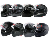 DOT Flip up Modular Full Face Motorcycle Helmet Street Motocross S M L XL Adult