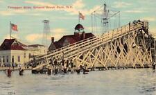Toboggan Slide, Ontario Beach Park, New York ca 1910s Vintage Postcard