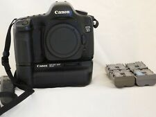 Canon EOS 5D DSLR Camera Body w/ BG-E4 Battery Grip and 4 Batteries