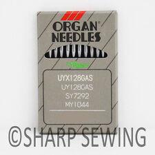 10 EACH ORGAN NEEDLES UY128 #10BP  128G, 128GAS, TVX3  FITS COVERSTITCH