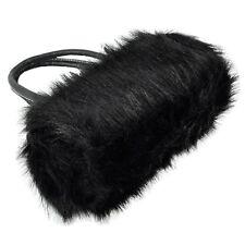Lovely Fur Leather Handbag Shoulder Bag Winter Black N3