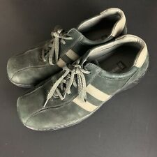 Sketchers Leather Lace Up Casual Oxford Shoes SN 60043 Green 12 Great Condition