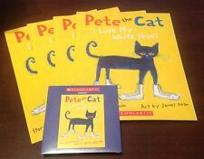 Pete the Cat I Love My White Shoes Scholastic Listening Center 4 Book Set w/CD