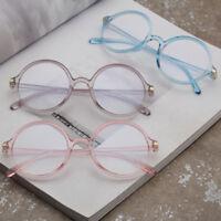 2019 Women Men Anti Blue Light Glasses Frame Vintage Round Clear Lens Eyeglasses