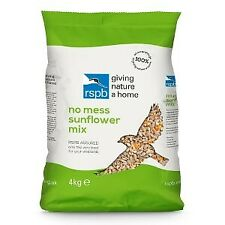 RSPB No Mess Sunflower Mix Wild Bird Food 4kg