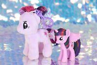 My Little Pony PRINCESS TWILIGHT SPARKLE Figure Plush Backpack Clip G4 MLP BA839