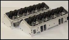 SBC CHEVY 350 383 406 NKB-200cc ALUMINUM HEADS 68cc STRAIGHT PLUG NKB-274-PBM