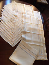 17 pc. Woven Linen Table Set with Tablecloth 12 Napkins 2 runners 2 placemats