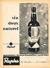 PUBLICITE ADVERTISING 114  1958  ST RAPHAEL  apéritif RAPHA