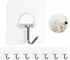 8 Pack Wall Hooks, Transparent Reusable Seamless Hooks