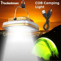 60000lm Portable Solar COB LED Work Light Lantern Rechargeable Tent Camping Lamp