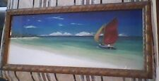 D.J. Smith Beautiful Tropical Art Collector Print Looks Like a Painting Ornate!