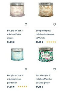 Bougie 3 meches partylite