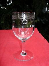 BACCARAT BYZANTINE WINE GLASS VERRE A VIN CRISTAL GRAVÉ EMPIRE 19ÉME XIXÉME