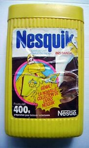 Boîte NESQUIK  GROQUIK - recto/verso - COLLECTION LIVRES NESQUIK