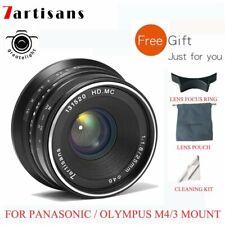 7artisans 25mm F1.8 Manual Focus Lens For Panasonic / Olympus M4/3 Mount GX GH