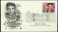 2721 Elvis Presley FDC Artcraft PCS Cachet Fancy Music Cancel Memphis LOT 1252
