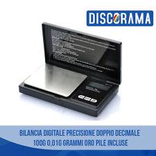 BILANCIA BILANCINO DIGITALE PRECISIONE DOPPIO DECIMALE 100G 0,01G GRAMMI ORO