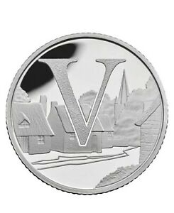 Rare 2018 Alphabet A-Z 10p Ten Pence Coin V - Villages From Sealed Bag