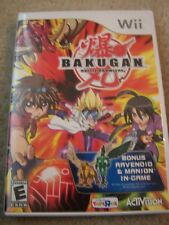 Wii Video Game case CD & Instructions BAKUGAN BATTLE BRAWLERS Exclusive Toy