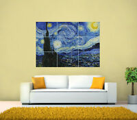 Vincent van Gogh - The Starry Night GIANT Print Poster, Various sizes from A3
