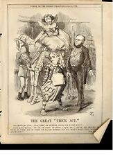 "Punch Cartoon -1874- ""THE GREAT TRICK ACT"""