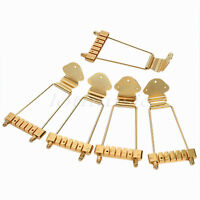 5 Pcs Gold Trapeze Tailpiece Bridge For 6 String Bass Guitar Replacement Parts
