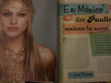 Paulina Rubio lot collection report spanish magazine 0