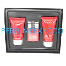 FERRARI PASSION Set 1.7oz EDT SPRAY-3.3oz After Shave Balm-5oz S/Gel MEN (