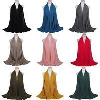 JT_ Women Fashion Chiffon Long Scarf Muslim Hijab Arab Wrap Shawl Headwear Dec