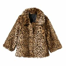 OshKosh B'gosh Reversible Faux-Fur Animal Print Coat Size 4 Nwt Retail $78