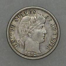 1912-D 10C Barber Dime Circulated XF Extra Fine  Full Liberty Full Rims