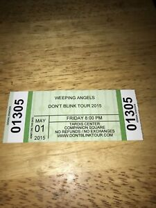 Weeping Angels Don't Blink Tour 2015 Ticket Stub. Doctor Who TARDIS Center. Rare