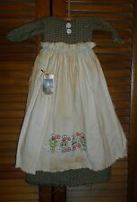 Primitive Wall Decor Dress GREEN CHECK W/ APRON Nutcracker,Christmas,Grungy