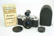 Boxed mint KOMURA 28mm f/3.5 for LEICA M-39 Screw +Viewfinder in Case - rare