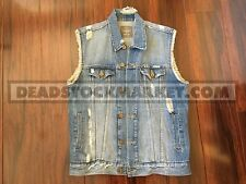 URBAN OUTFITTERS STANDARD CLOTH DENIM VEST MEDIUM JEAN JACKET YEEZY FLAG WTT