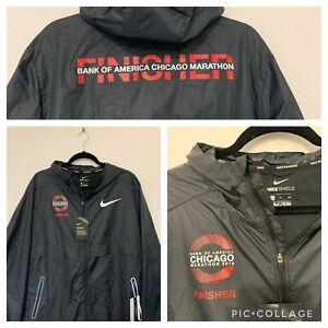 Men's Nike Shield Running Windbreaker 2018 Chicago Marathon Finisher Jacket