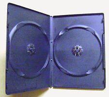 Lot de 6 boîtes de rangement pour 2 CD ou DVD boitier noir vide en plastique /T6
