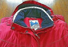 Wind River Womens Winter Jacket Hooded Fleece Lined Red Size L/G Zip Up Button