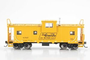 HO Atlas Rio Grande (DRGW) Extended Vision Caboose, Yellow, Excellent Condition