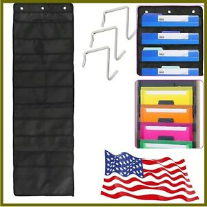 NEW 10Pockets Wall Hanging File Folder Organizer Office Home School Pocket Chart