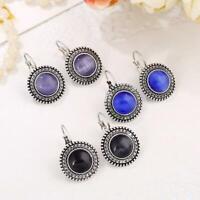 Big lange Tropfen-Ohrringe Hippie Perle baumeln Silber Tibetischen Runde