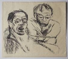 Künstlerische Malereien von Porträts & Personen im Art Deco-Papier - -