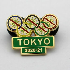 TOKYO 2020 JAPAN OLYMPIC GAMES PIN PLEASE LET THE games begin 2021 green
