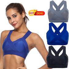 Women's X-type Back Sports Bra Fitness Shockproof Wortout Yoga no Padded Bra Hot