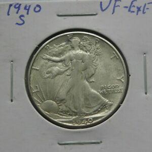 1940 S VERY FINE  WALKING LIBERTY  HALF DOLLAR  SEE PICS