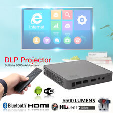 5500 Lumens Mini Portable DLP 4K 1080P Projector LED Bluetooth Home Theater HDMI