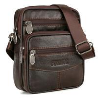 Vintage Men's Genuine Cow Leather Messenger Bags Cross body Handbag Shoulder Bag